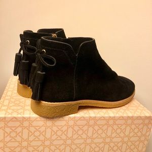 NEW Kate Spade Bellville Black Suede Ankle Boot